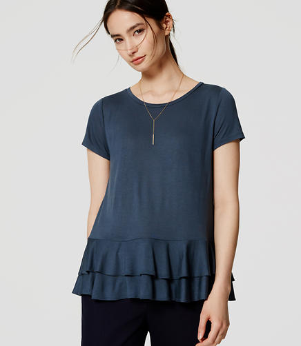 Image of Tiered Peplum Tee