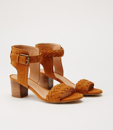Image of Braided Stacked Heel Sandals