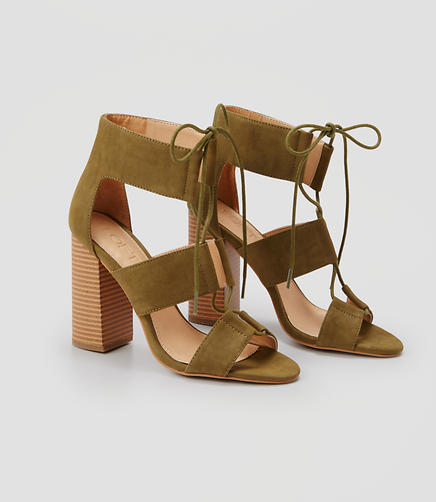 Image of Cutout Block Heels