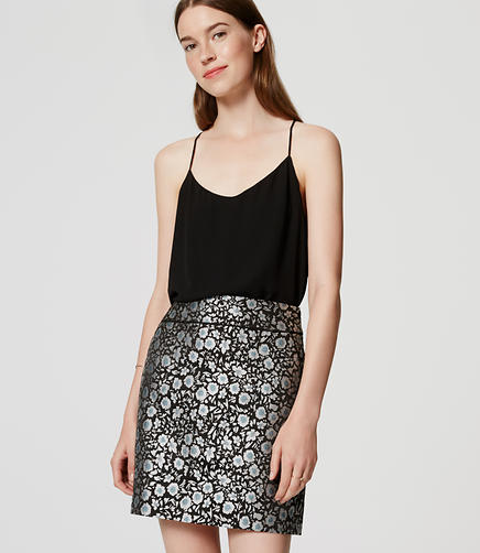 Image of Tipped Floral Skirt