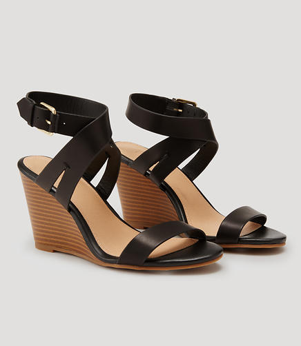 Image of Crossover Wedge Sandals