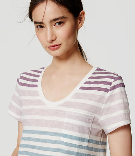 Image of Petite Striped Vintage Soft Pocket Tee