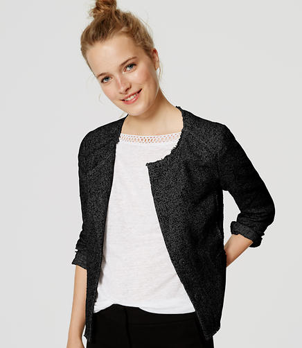 Image of Tall Edged Tweed Jacket