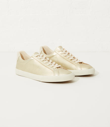 Image of Veja Esplar Leather Gold Pierre Natural Puxador