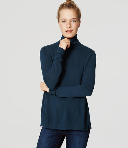 Image of Seamed Turtleneck Sweater