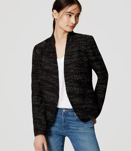 Image of Petite Tweed Blazer