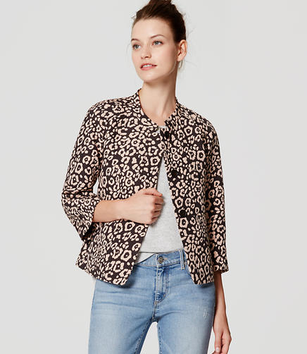 Image of Petite Spotted Cropped Jacket