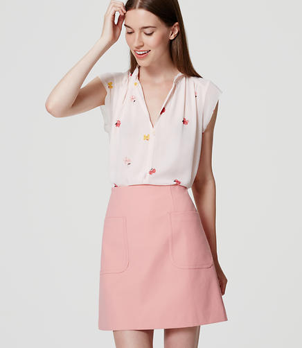 Image of Petite Patch Pocket Shift Skirt