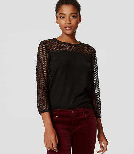 Image of Dot Lace Sweater