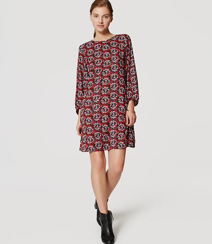 Image of Shadow Floral Shift Dress