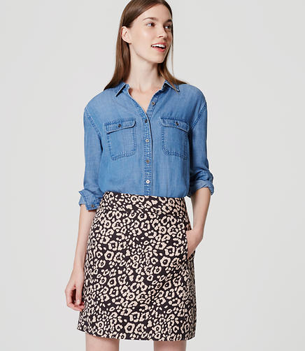 Image of Spotted Shift Skirt