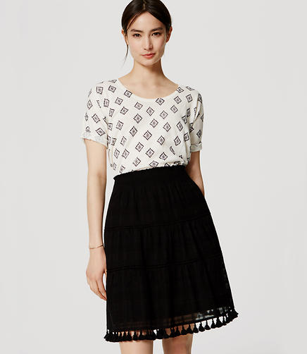 Image of Tasseled Skirt