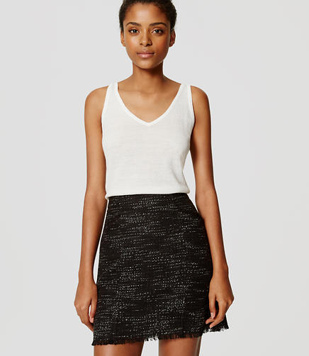 Image of Petite Midnight Tweed Skirt