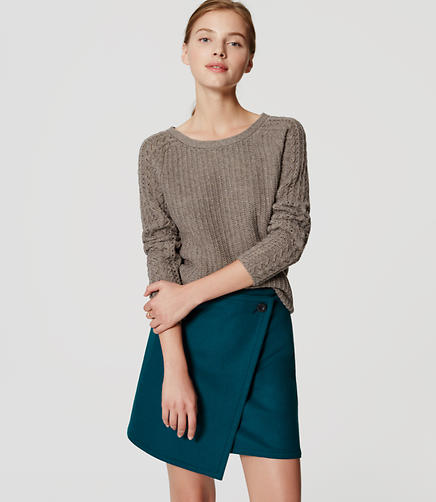 Image of Wooly Wrap Skirt