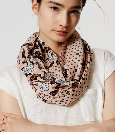 Image of Floral Dot Infinity Scarf