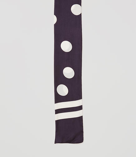 Image of Dot Skinny Silk Scarf