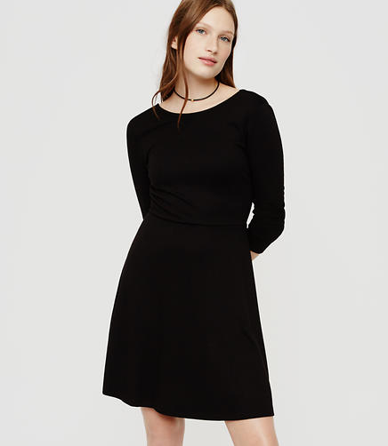 Image of Surplice Back Long Sleeve Dress - Medita