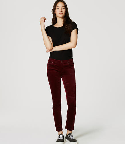 Image of Modern Skinny Velvet Pants
