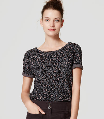 Image of Leopard Print Top