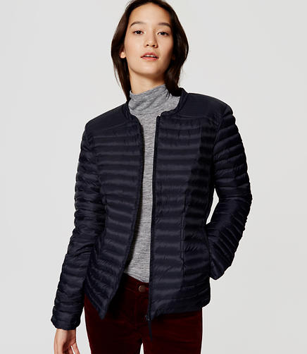 Image of Pintucked Puffer Jacket