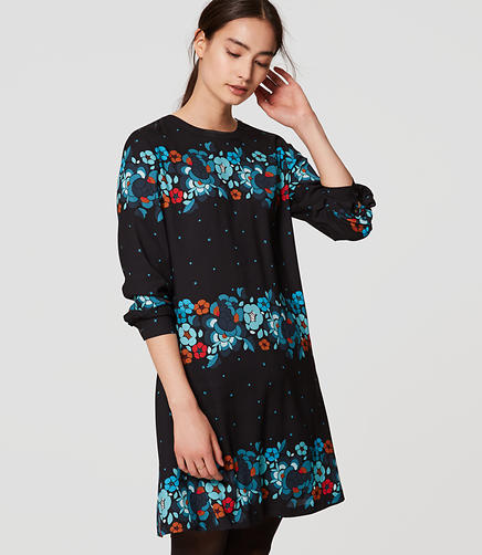 Image of Snow Floral Back Pleat Dress