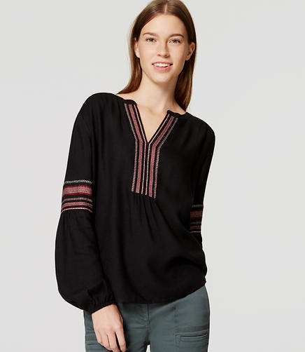 Image of Striped Boho Blouse