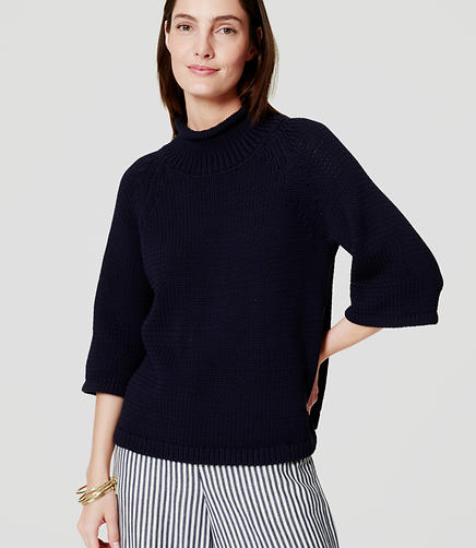 Image of Relaxed Mockneck Sweater