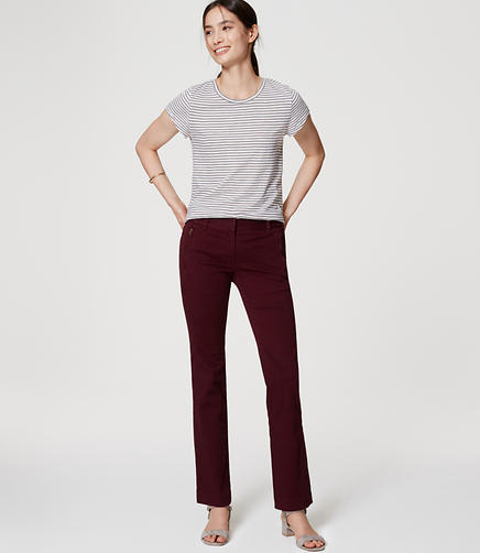 Image of Boot Cut Sanded Sateen Chinos in Marisa Fit