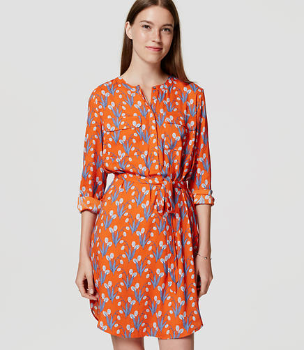 Image of Petite Tulip Shirtdress