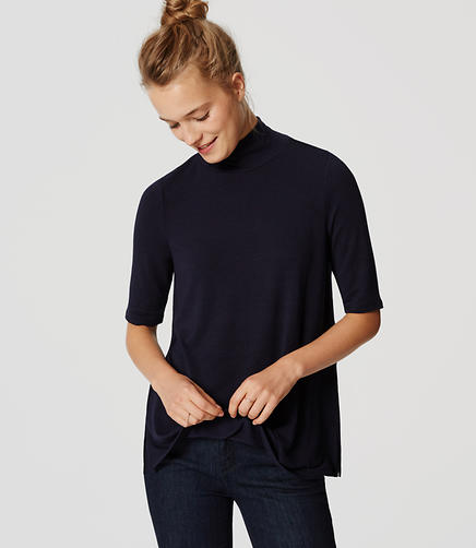 Image of Turtleneck Swing Tee
