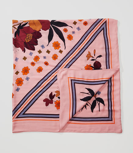 Image of Floral Border Scarf