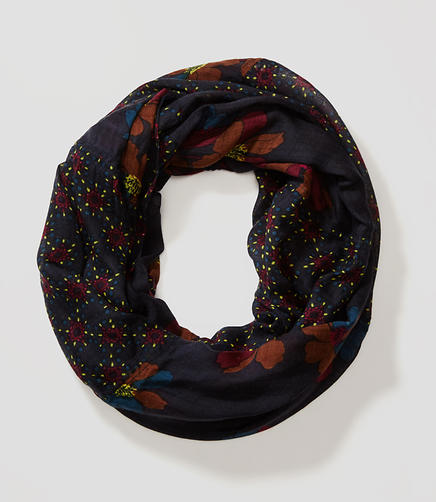 Image of Floral Fireworks Infinity Scarf