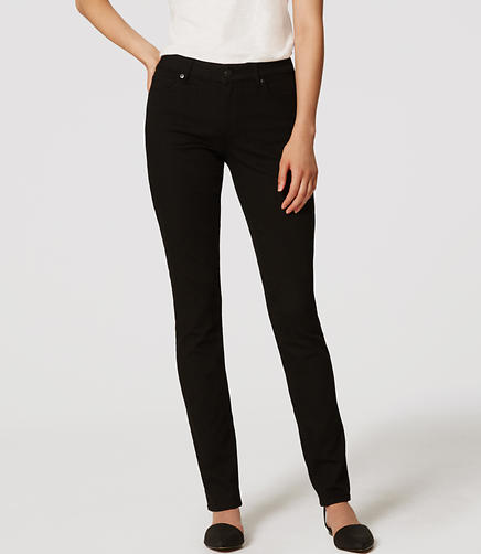 Image of Curvy Straight Leg Jeans in Black