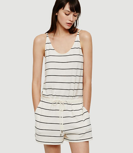Image of Petite Lou & Grey Striped Bare Romper