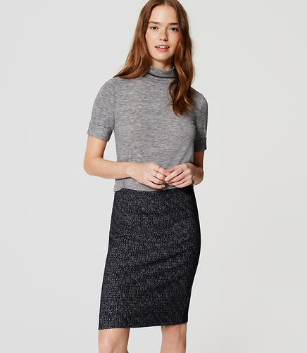 Image of Speckled Knit Pull On Pencil Skirt