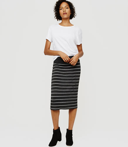 Image of Lou & Grey Striped Signaturesoft Pencil Skirt