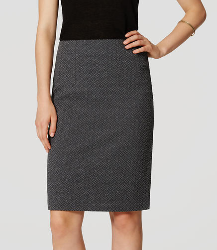 Image of Petite Diamond Pull On Pencil Skirt