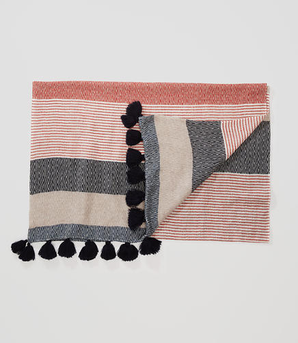 Image of Striped Tassel Scarf