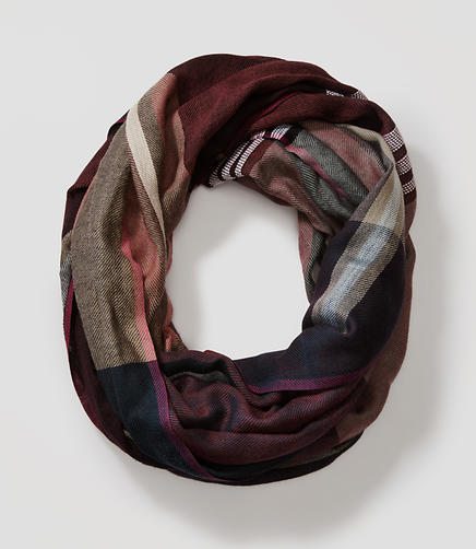 Image of Plaid Infinity Scarf