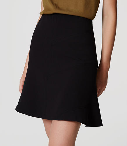 Image of Petite Seamed Flippy Skirt