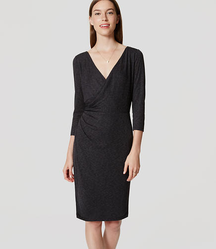 Image of Side Shirred Wrap Dress