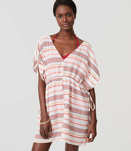 Image of LOFT Beach Striped Caftan Dress