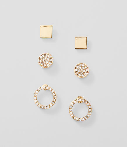 Image of Micro Pave Stud Earring Set