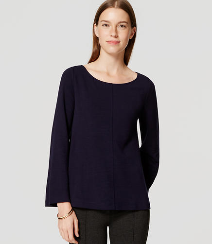 Image of Knit Bell Sleeve Top