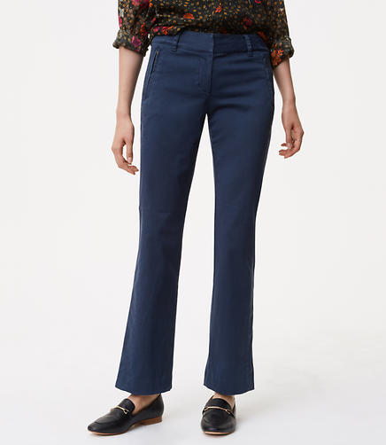Image of Boot Cut Sanded Sateen Chinos in Julie Fit
