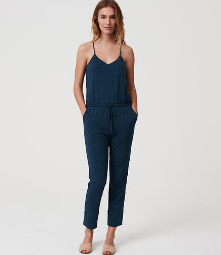 Image of LOFT Beach Strappy Racerback Jumpsuit