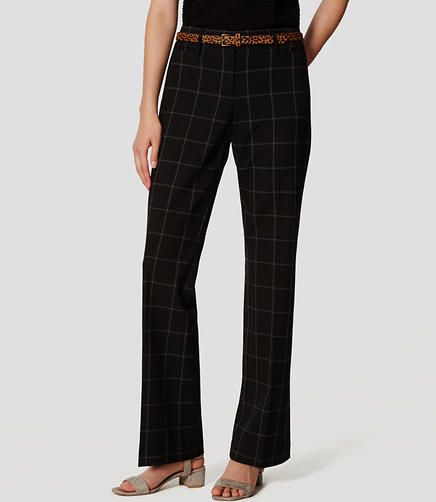 Image of Plaid Custom Stretch Trousers in Julie Fit