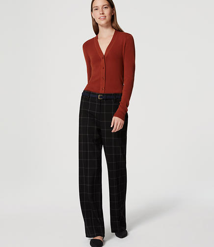 Image of Tall Plaid Custom Stretch Trousers in Marisa Fit