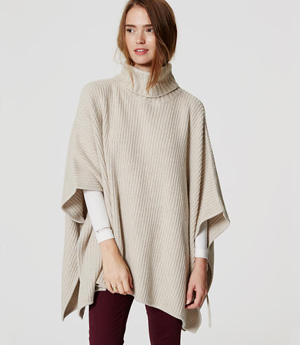 Image of Petite Side Tie Poncho