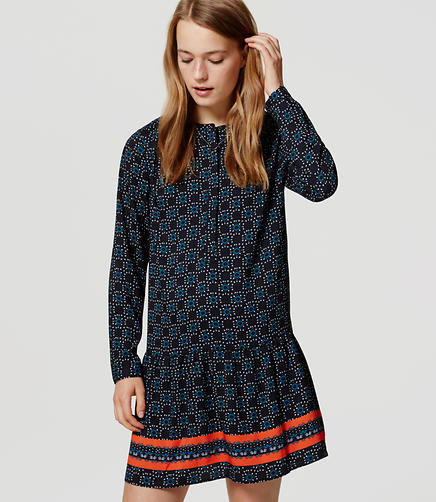 Image of Fireworks Drop Waist Shirtdress